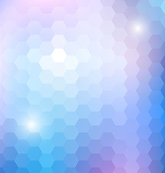 Geometric shining pattern with hexagon vector image