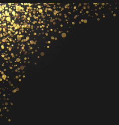 Gold glitter particles background effect vector