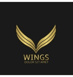 Golden Wings logo vector image