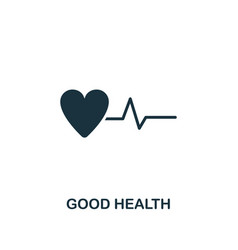 Good health icon creative element design from vector