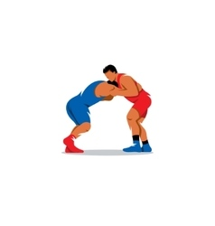 Greco Roman Wrestling sign Sports duel of two vector image