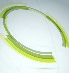 Green round spin element abstract background vector image