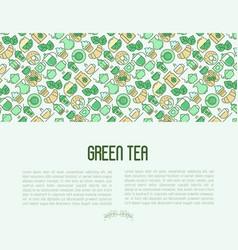 green tea ceremony concept vector image