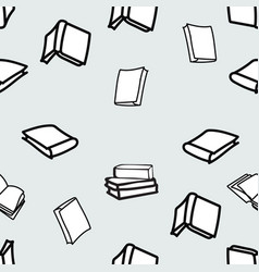 hand drawn books seamless pattern vector image