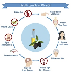 Health benefits of Olive Oil vector image