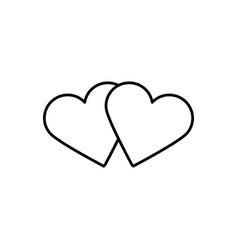 hearts icon vector image