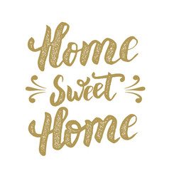 Home sweet home hand drawn phrase isolated on vector