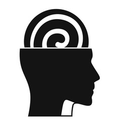 Human mind hypnosis icon simple style vector