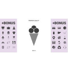 ice cream icon - graphic elements for your design vector image