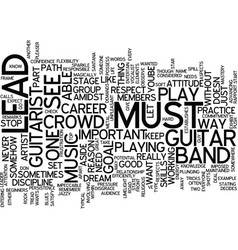 Learn play lead guitar text background word cloud vector