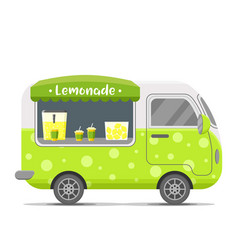 Lemonade street food caravan trailer vector