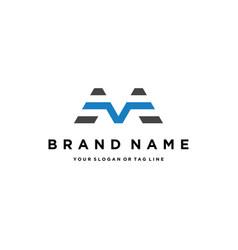 Letter m modern logo design vector