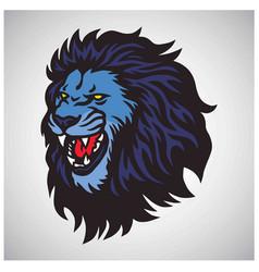 lion roaring mascot esport logo design vector image