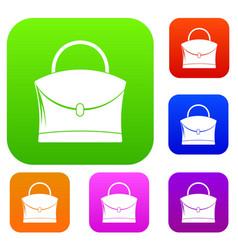 little woman bag set color collection vector image