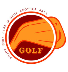 logo golf vector image
