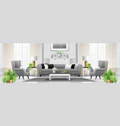 luxury living room interior background vector image