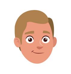 Man character face avatar portrait vector