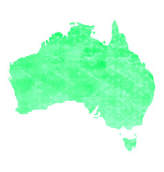 map of australia with a light green paint texture vector image