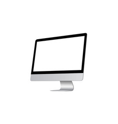 modern computer monitor with blank screen isolated vector image