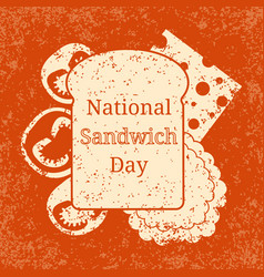 national sandwich day 3 november food holiday in vector image