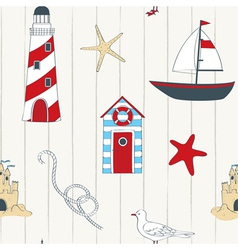 Nautical seamless vector image