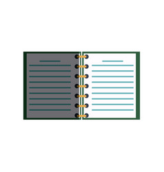 Open spiral notebook pages copyspace study vector