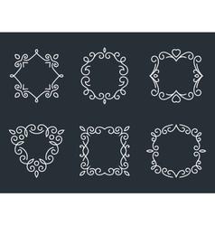 Outline monogram frames vector image