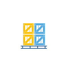 package logistic logo icon design vector image