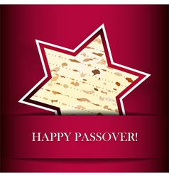 Passover card with matza Star of David shape vector