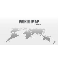 perspective and dotted style world map on gray vector image