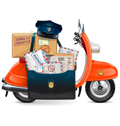 Postal scooter vector
