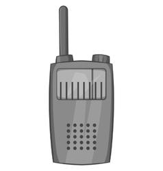 Radio transmitter icon black monochrome style vector