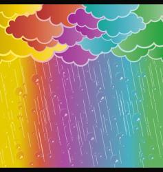 rainbow rains vector image