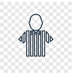 referee concept linear icon isolated on vector image