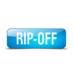 Rip-off blue square 3d realistic isolated web vector