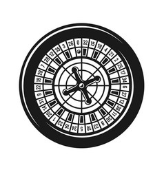 Roulette wheel for casino gambling object vector