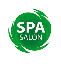 Round abstract logo for spa salon vector