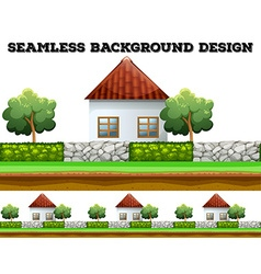 Seamless background design with houses vector