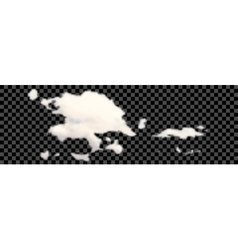 Set of transparent different clouds on black vector image