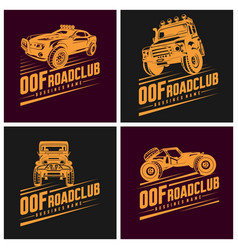 set off-road car logo off-road 4x4 extreme vector image