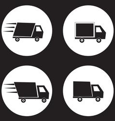 Shipping truck vector