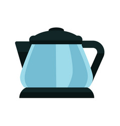 small blue kettle vector image