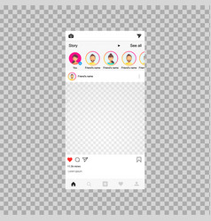 Social network frame social post vector