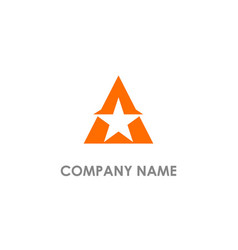 star triangle logo vector image