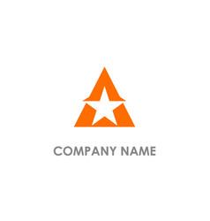 Star triangle logo vector