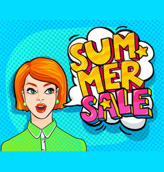 summer sale message vector image