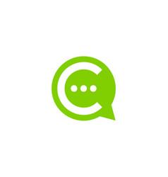 talk letter c logo icon design vector image