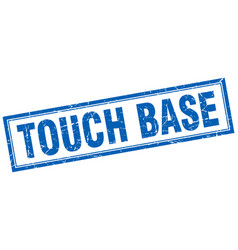 Touch base square stamp vector