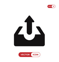 upload icon vector image