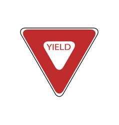 Usa traffic road signs slow down completely stop vector
